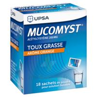 MUCOMYST 200 mg Poudre pour solution buvable en sachet B/18 à Savenay