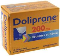 Doliprane 200 Mg Poudre Pour Solution Buvable En Sachet-dose B/12 à Savenay