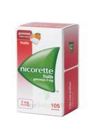 Nicorette 2 mg Gomme à mâcher médicamenteuse sans sucre fruits Plq/105 à Savenay