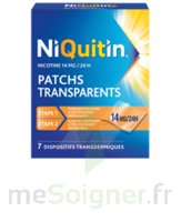 NIQUITIN 14 mg/24 heures, dispositif transdermique Sach/7 à Savenay