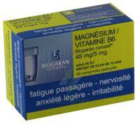 MAGNESIUM/VITAMINE B6 BIOGARAN CONSEIL 48 mg/5 mg, comprimé pelliculé à Savenay