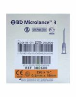 BD MICROLANCE 3, G25 5/8, 0,5 mm x 16 mm, orange  à Savenay