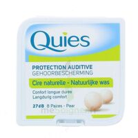 QUIES PROTECTION AUDITIVE CIRE NATURELLE 8 PAIRES à Savenay