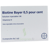 BIOTINE BAYER 0,5 POUR CENT, solution injectable I.M. à Savenay