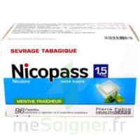 Nicopass 1,5 Mg Pastille Sans Sucre Menthe Fraîcheur Plq/96 à Savenay