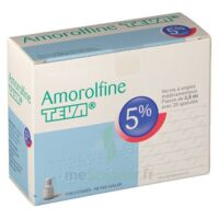 AMOROLFINE TEVA 5 % Vernis ongl médic médicamenteux 1Fl ver/2,5ml+spat à Savenay