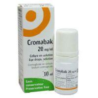 CROMABAK 20 mg/ml, collyre en solution à Savenay