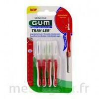 GUM TRAV - LER, 0,8 mm, manche rouge , blister 4 à Savenay