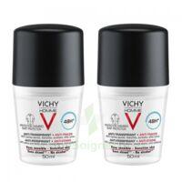 Vichy Homme Déodorant anti-transpirant anti trace 48H 2*Billes/50ml à Savenay
