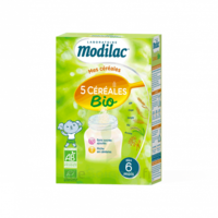 Modilac Céréales Farine 5 Céréales bio à partir de 6 mois B/230g à Savenay