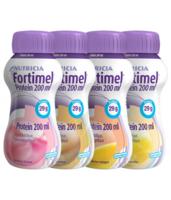 Fortimel Protein Nutriment Multi Saveurs Caramel/vanille/fraise/mangue 4 Bouteilles/200ml à Savenay