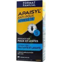 Apaisyl Anti-poux Xpress 15' Lotion antipoux et lente 100ml+peigne à Savenay
