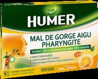 Humer Pharyngite Pastille Mal De Gorge Miel Citron B/20 à Savenay